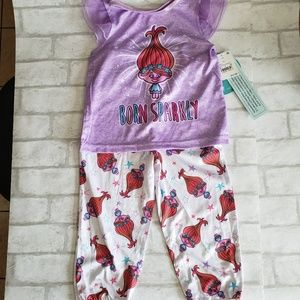 Girls Troll 2pc Pajama set